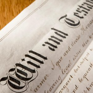 Last will and testament from out wills and probate team